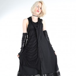 Damage patchwork dress