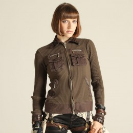 Dragon leather military knit