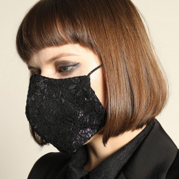 Gothic lace mask wear / M