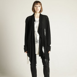 Drape feather cardigan