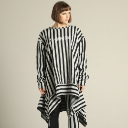 Striped over tunic dress
