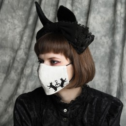 HEART CAT WONDERLAND MASK WEAR / M