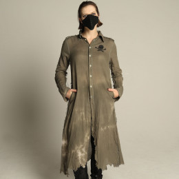 Military long blouse jacket