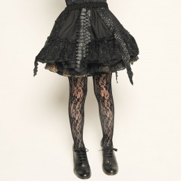 Dragon Scale Lace Gothic Kids Skirt