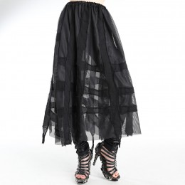 Mesh patchwork skirt