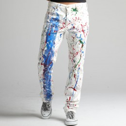 Multicolor White Levi's Denim
