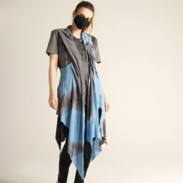 Gradation Dyed gilet / BL