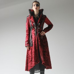 Red Scale Fur Coat