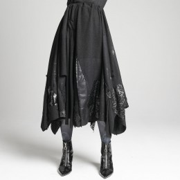 Patchwork Gothic long skirt