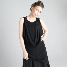 Asymmetry Drape long Tank