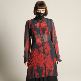 Bloody Rose Long Dress Blouse