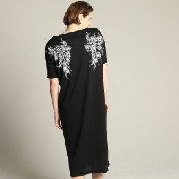 Devil's wing Long dress