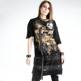 Gauze border bleach tunic
