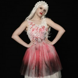 Blood Message Wedding Dress