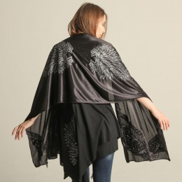 Angel wings patch work stole