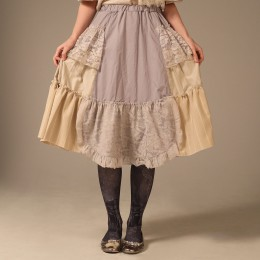 Natural Flare Gather Skirt
