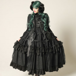 Dragon Scale Bird Cage Long Dress