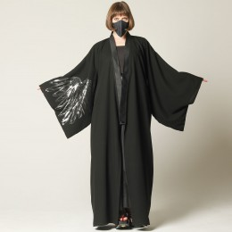 Angel wings long yukata