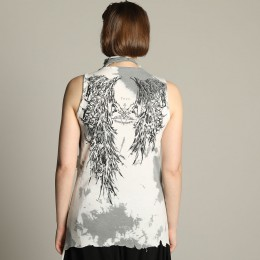 Devil's wing Dyed Drape tank top