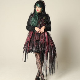 Dragon Scale Bird Cage Devil Dress