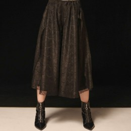 Eyelash lace wide pants
