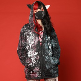 Oversized Big Paint Hoodie / L
