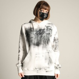 666 Action Paint Hoodie