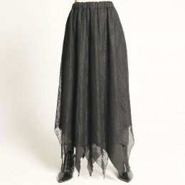 Layered lace flare skirt