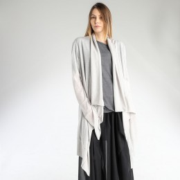 Draped light cardigan