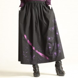 Metal butterfly long skirt