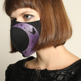 Moon and butterfly mask wear / M