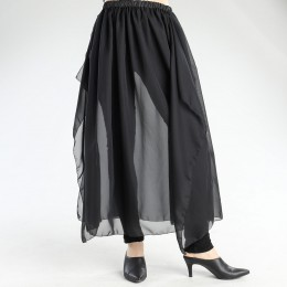 Transparent chiffon skirt