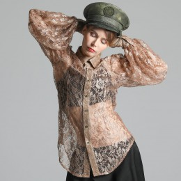 Shining lace blouse