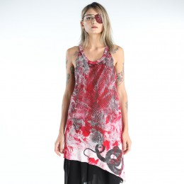 Snake dyed long tank top