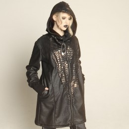 Dragon leather long hoody