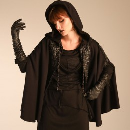 Dragon leather hood Cape