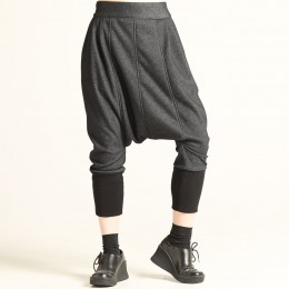 Soft Lame Denim Sarouel Pants