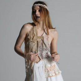 Dyed lace camisole