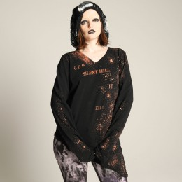 666 angel feather long sleeve T-SH