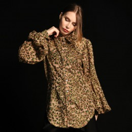 Spicy leopard blouse