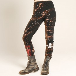 Skull bleach leggings