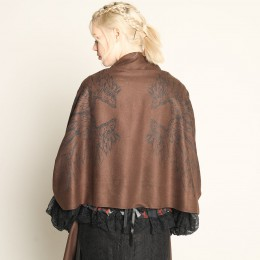 Michael' Dark Brown shawl