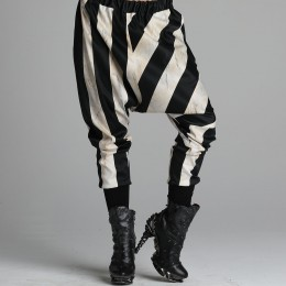Striped saruel pants
