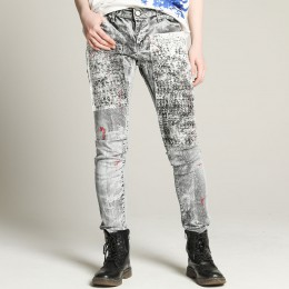 Violent paint denim