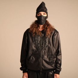 Leather Boa Hoody