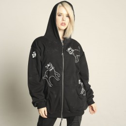 Black Cat Patch Hoodie