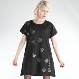 Cat footprint tunic TOPS