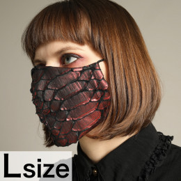 Red Dragon Leather Mask Wear / L